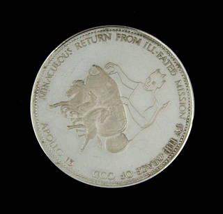 Apollo 13 silver Commemorative Medalion coin