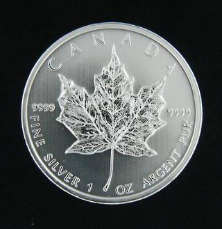 1 ounce silver Canadian Maple coin