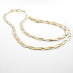 18ct tri-tonal twisted style chain necklace