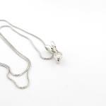 Platinum diamond set pendant with 18ct white gold chain