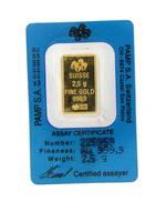 Gold Swiss Pamp Bar