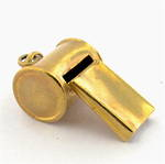 9ct yellow gold whistle charm