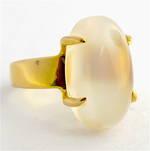 14ct yellow gold moonstone ring