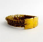 Antique victorian hair and 15ct yellow gold ring