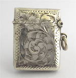 Sterling silver vesta box