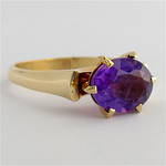 9ct yellow gold and amethyst dress ring