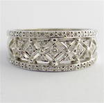 18ct white gold multi diamond band style ring