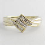 9ct white gold multi-diamond dress ring