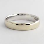 10ct white gold wedding band