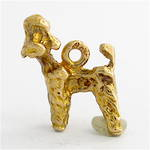 9ct yellow gold Poodle dog charm