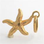 9ct yellow gold Starfish charm