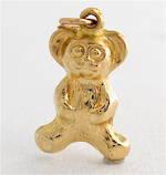 9ct yellow gold teddy bear charm