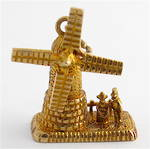 9ct yellow gold windmill charm