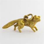 9ct yellow gold fox charm