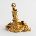 9ct yellow gold lighthouse charm