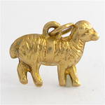 9ct yellow gold sheep charm