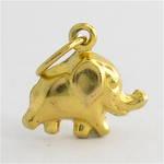 9ct yellow gold elephant charm