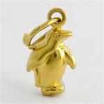 9ct yellow gold penguin charm