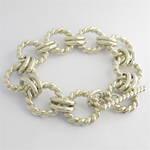 Sterling silver heavy toggle clasp bracelet