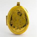 9ct yellow gold locket pendant