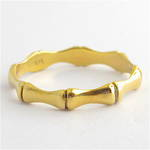 9ct yellow gold bamboo style dress ring