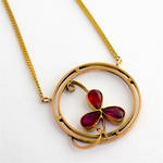 9ct rosey gold antique tourmaline necklace