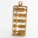 14ct yellow gold abacus charm