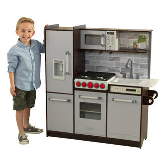 KidKraft Uptown Elite Espresso Play Kitchen - FREE DELIVERY