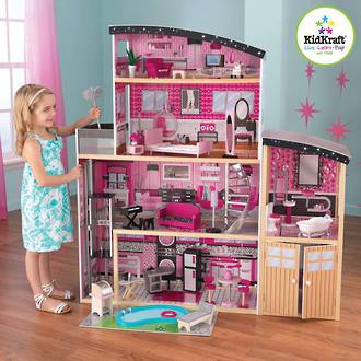 KidKraft Sparkle Mansion Dollhouse - FREE DELIVERY - Pre order now from our shipment due early March