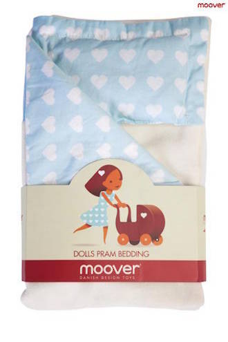 Moover Dolls Pram Bedding Blue