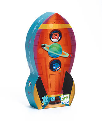 Djeco Spaceship Silhouette Puzzle