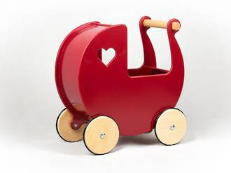 Moover Solid Red Pram - Free Delivery - Dispatched from NZ supplier in 1 - 2 days time
