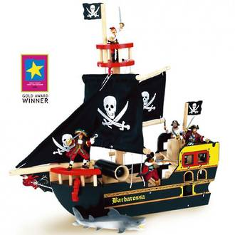 Le Toy Van Barbarossa Pirate Ship - FREE DELIVERY