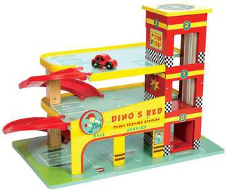 Le Toy Van Dino's Red Garage - FREE DELIVERY