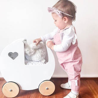 Moover Dolls Pram White - Free Delivery - Dispatched from NZ supplier in 1 - 2 days time
