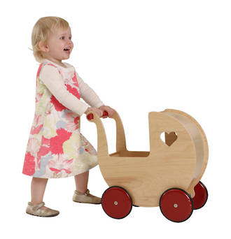 Moover Doll's Pram Natural - Free Delivery - Dispatched from NZ supplier in 1 - 2 days time