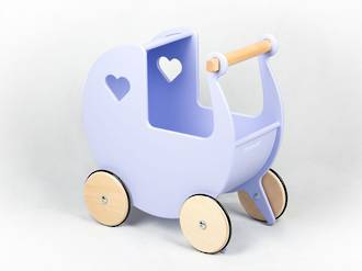 Moover Dolls Pram Pale Purple - Free delivery