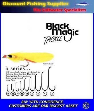 "Black Magic ""B"" Series Fly  Hooks"
