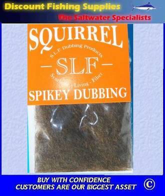 SLF Squirrel Spikey Dubbing - Brown Olive
