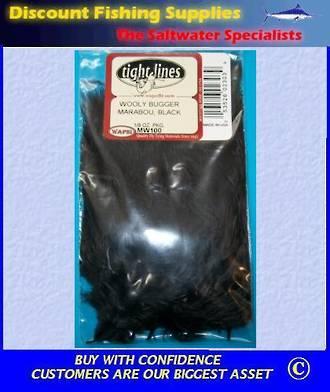 Woolly Bugger Marabou - Black