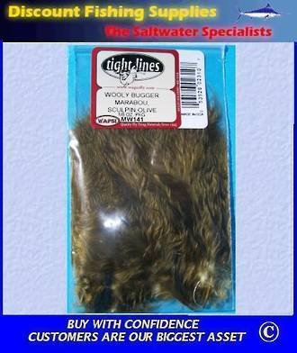 Woolly Bugger Marabou - Sculpin Olive