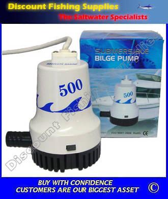 Absolute Marine Bilge Pump - 500 gph