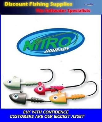 Berkley NITRO Pogy Head Jigheads 1/2oz - 6/0 - Lumo