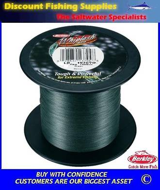 Berkley Whiplash Super Braid - 100lb X 2200yds BULK SPOOL Green