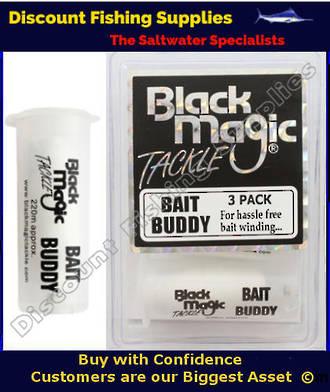 Black Magic Bait Cotton - Bait Buddy - 3 Pack