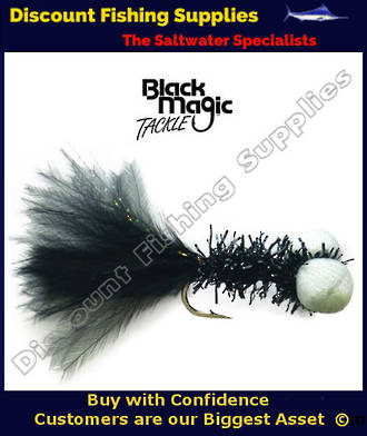 Black Magic Black Booby Fly (Foam Eyes) #6