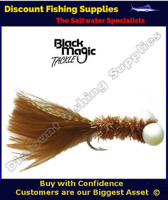 Black Magic Brown Booby Fly (Foam Eyes) #6