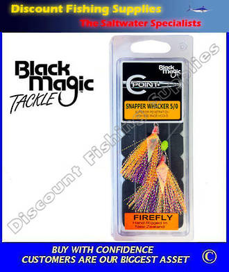 Black Magic Flasher 5/0 Snapper Whacker 'Firefly'