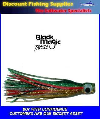 Black Magic Large Devil Lure - Green Gold over Blue Silver