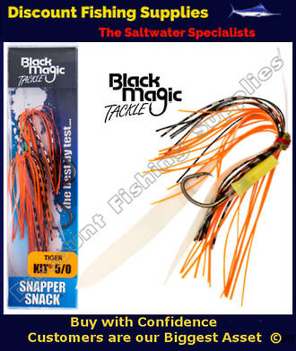 Black Magic Snapper Snack Flasher Rig Tiger 5/0